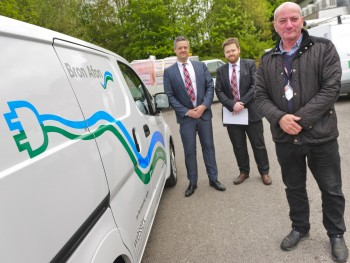 Nissan's 100% electric van heads to Bron Afon