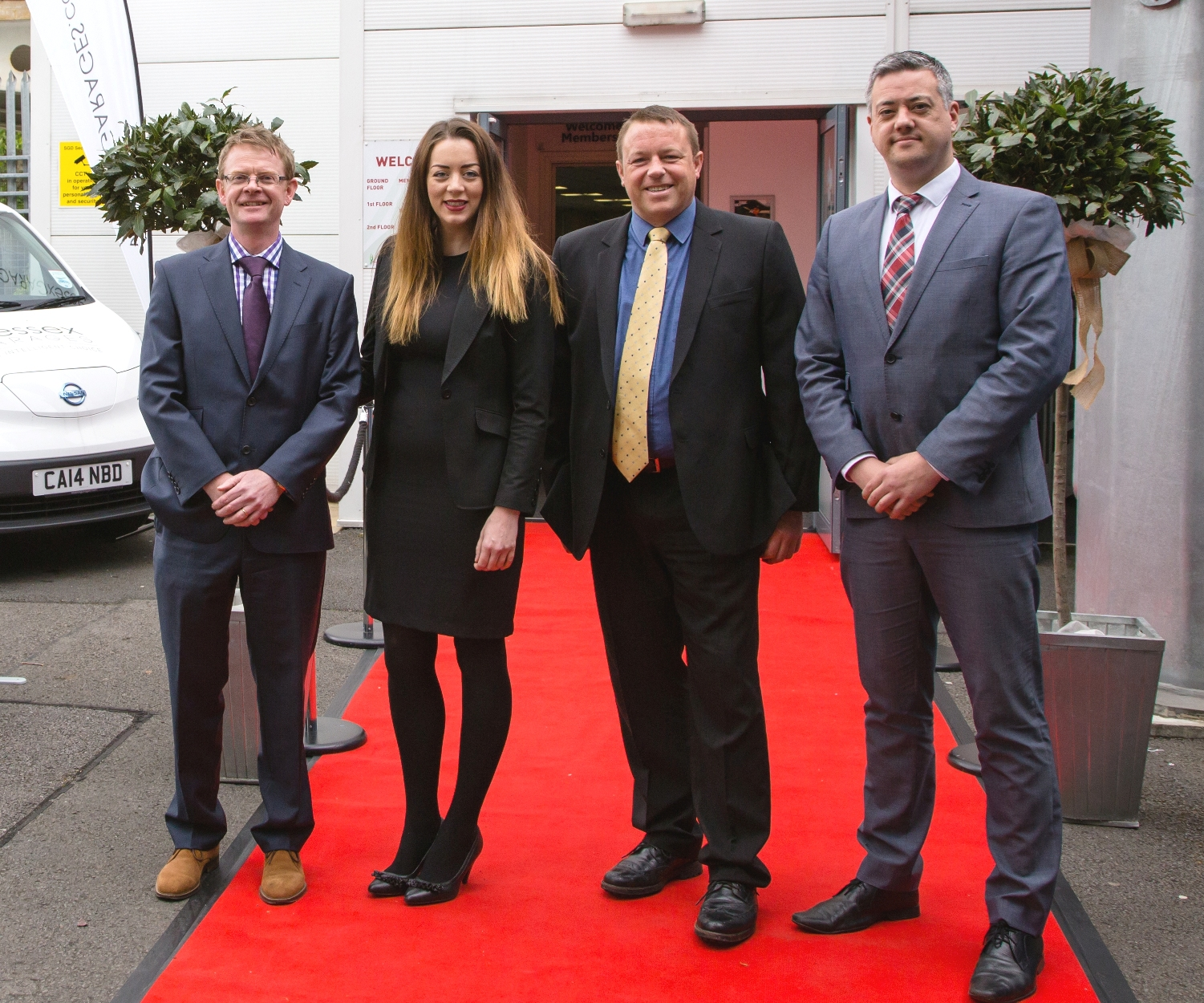 (From left to right) Group Fleet Manager at Wessex Garages, Andy Provis, Business Specialist Dealers at Wessex Garages, Kate Hancock, Simon Richardson and Darren Wesson, who are all now members of the Institute of Directors (IOD).