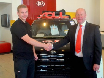 We welcome Kia apprentice Robert to our Gloucester team