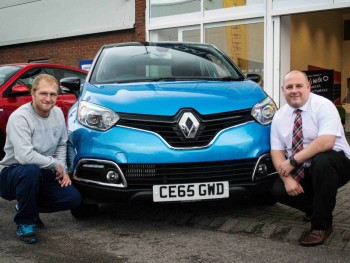 Luke leads the way in his new Renault Captur