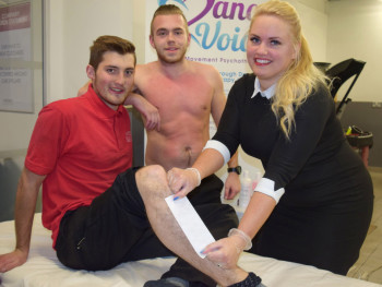 Ollie and Mitch get waxed at Wessex for Dance