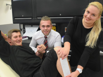 Ollie and Mitch to get waxed at Wessex in aid of charity