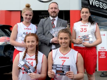 We're supporting the Welsh girls basketball team
