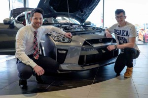 Crowds attend to see the first 2017 Nissan GT-R in Europe