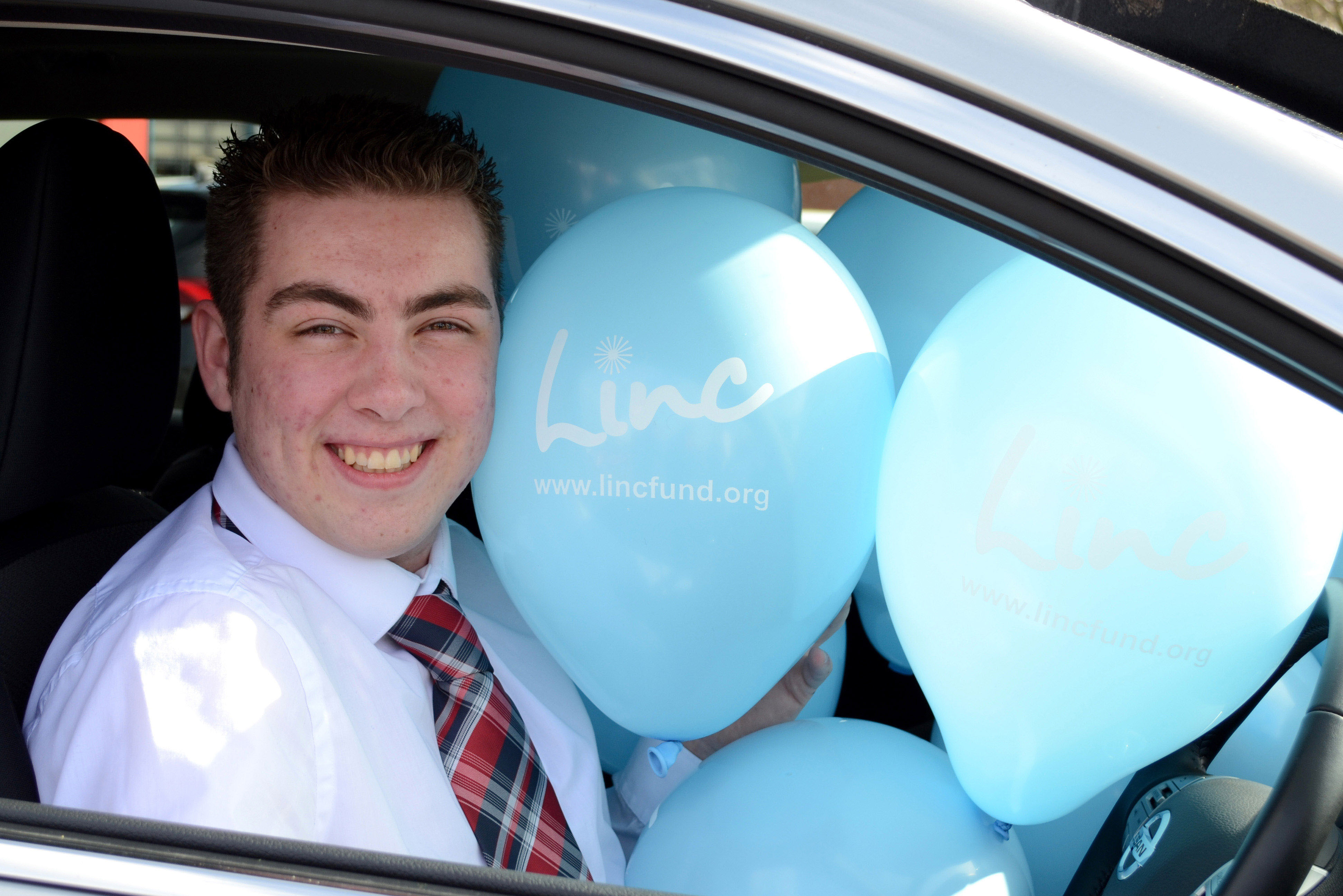 Jack Harris, Digital Sales Executive at Wessex Garages, gets ready for the competition.