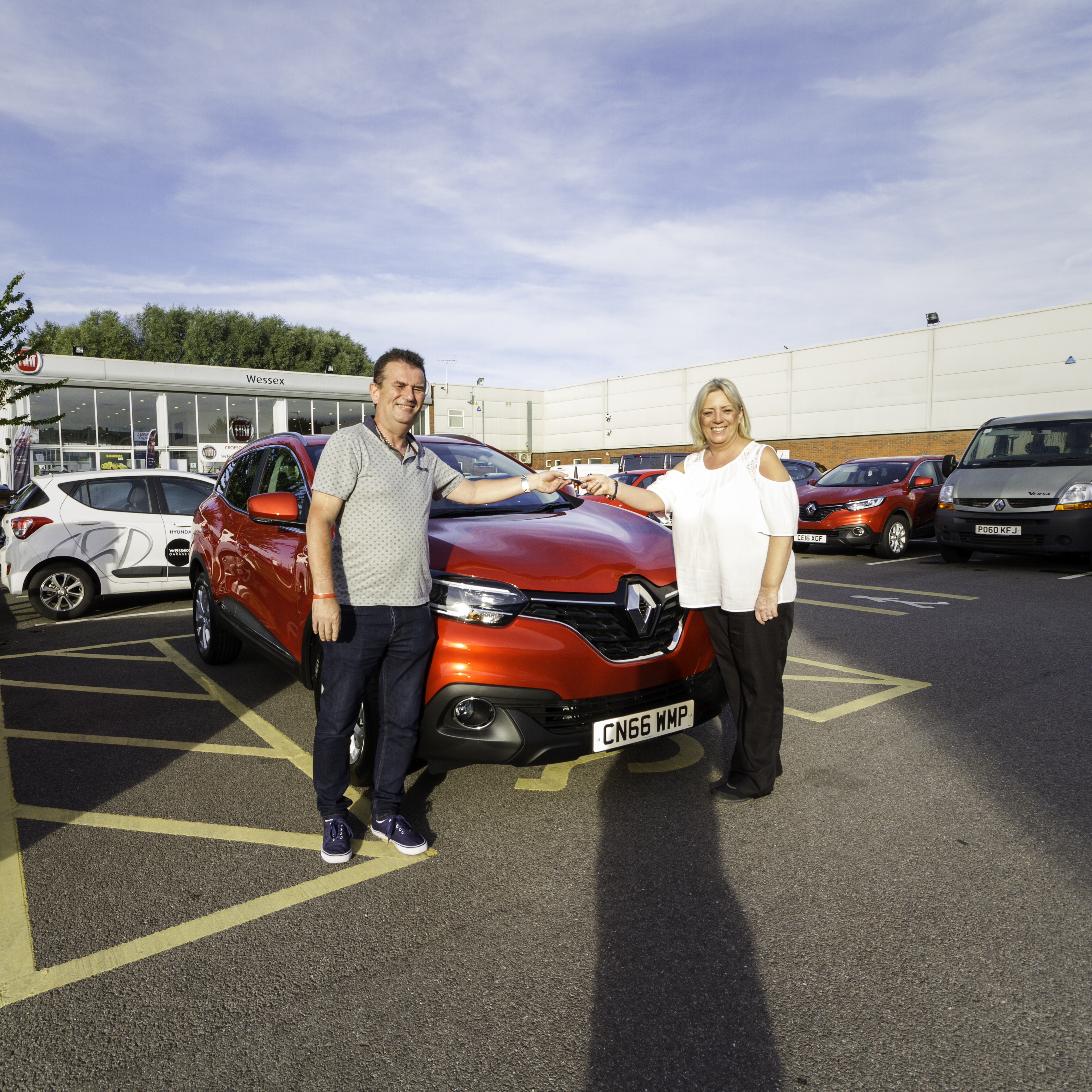 Stephen Luffman next to his brand new Renault Kadjar at our Newport Branch.